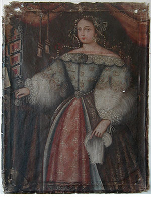Portrait of a Peruvian Noblewoman during restoration