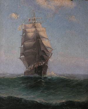 Painting during restoration