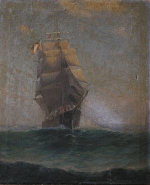 Sailing Ship before restoration