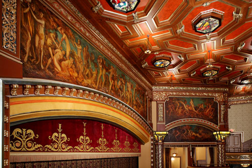 Everett Shinn Murals Belasco Theatre Photography by Whitney Cox courtesy of the Shubert Archive