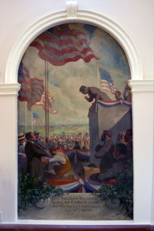 Murals in Rotunda by Robert Gaston Herbert, Nassau County Theodore Executive Building