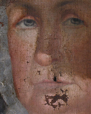 Flaky Painting before restoration